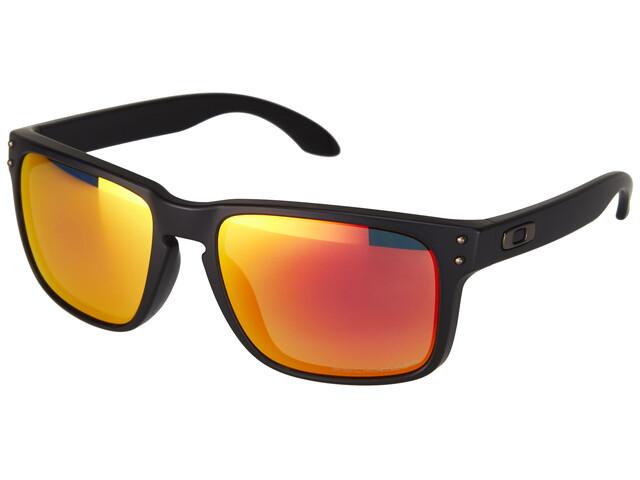 Oakley Holbrook Sunglasses matte black/ruby iridium polarized